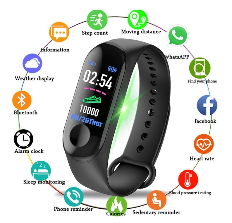 Traffic Smart Watch Sport Fitness Bracelet